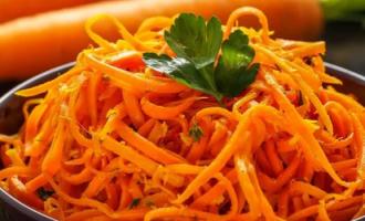 Морква по–корейськи на зиму