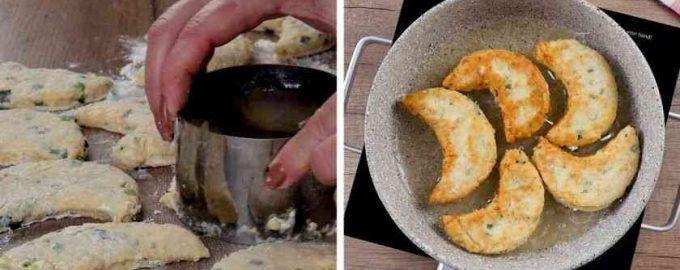 Ліниві пиріжки з сиром і зеленню