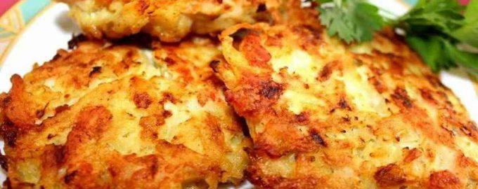 Курячі оладки з картоплею