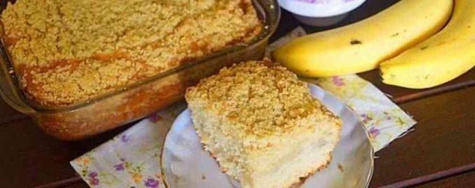 рецепт пирога з бананами і штрейзелем
