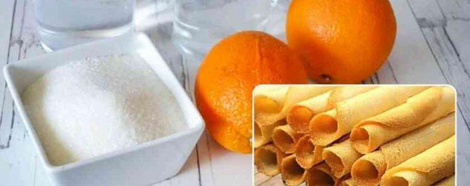 Цукрові трубочки з апельсином