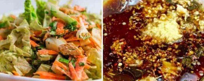 Гострий салат з пекінської капусти