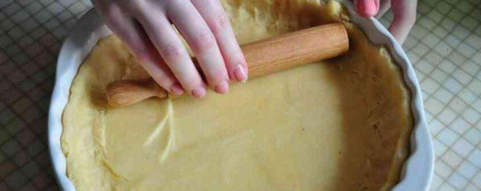 Тісто для відкритого пирога без дріжджів