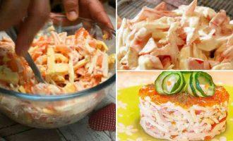 Крабовий салат з болгарським перцем Червоне море