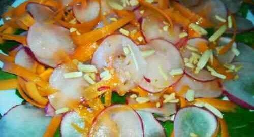 салат з редиски і моркви без майонезу