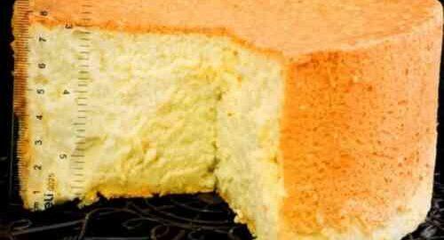високий бісквіт для торта в духовці