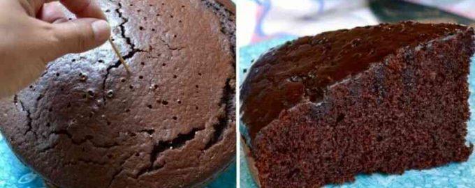 Шоколадний пиріг на червоному вині