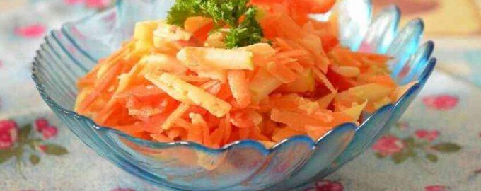 Морквяний салат з сиром