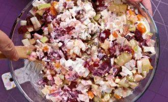 Фінський салат з оселедцем і буряком