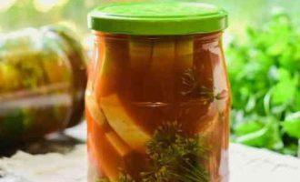 мариновані кабачки в томатній пасті