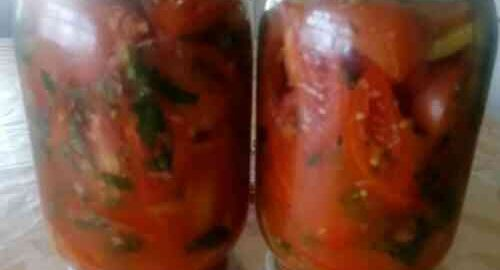 салат з помідорів з хріном без стерилізації