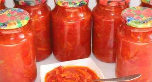 лечо з перцю з помідорами і морквою без оцту