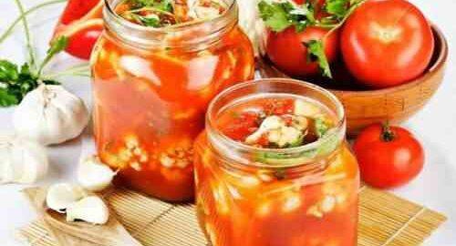 кольорова капуста в томатному соусі на зиму