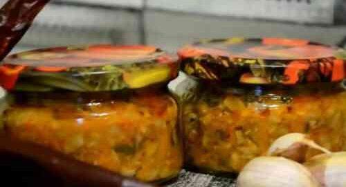 Рецепт грибної ікри на зиму з груздів з болгарським перцем