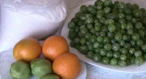 варення без варки з агрусу, ківі і апельсина