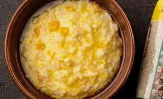 Рисова каша з гарбузом на молоці