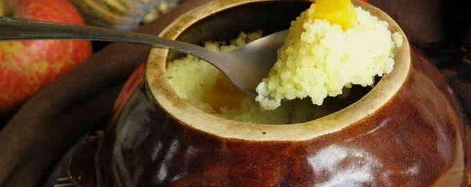Рисова каша на молоці з гарбузом в горщиках в духовці