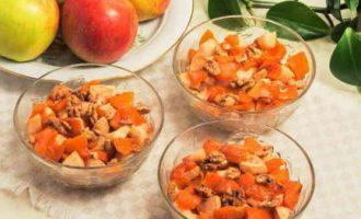 Як смачно запекти шматочки гарбуза з яблуками