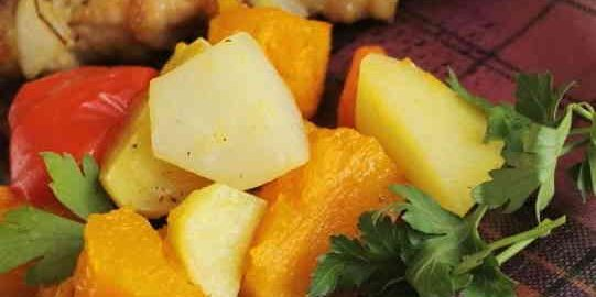 Овочі, запечені в духовці великими шматками