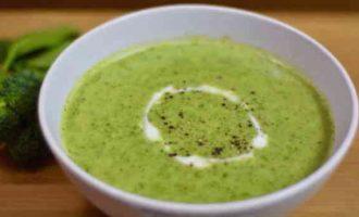 суп-пюре з брокколі і шпинату