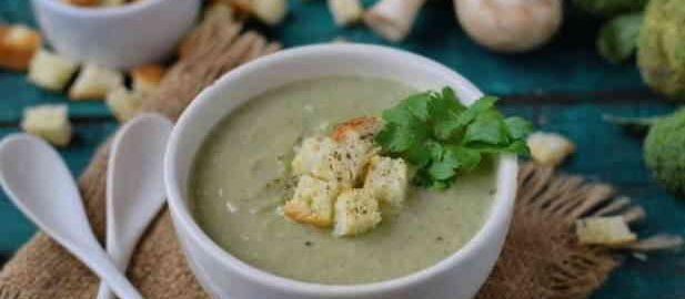рецепт приготування супу з брокколі і печериць